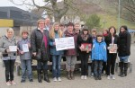 1000 Euro-Scheck für krebskranke Kinder