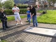 Patenklasse 10 organisierte Minigolf-Turnier