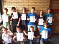 """10 Schüler erhalten das Zertifikat """"Word"""""""
