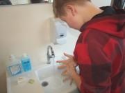 Nach dem Klo und vor dem Essen, Händewaschen nicht vergessen!