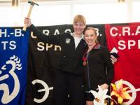 Petra Schallenberger und die Zweite in Boston Karen Kopf (rechts) aus Kanada.
