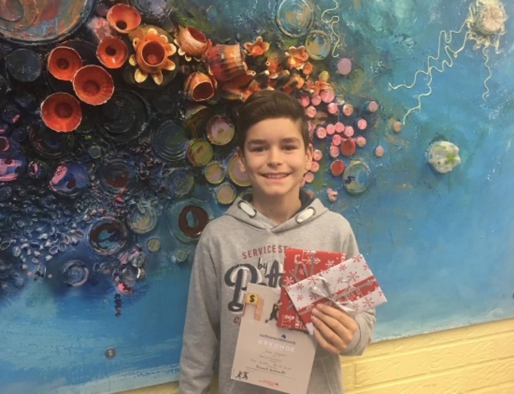 Jonas Wagner wird Schulsieger beim Vorlesewettbewerb