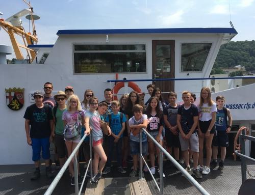 Klasse 7b auf der MS Burgund