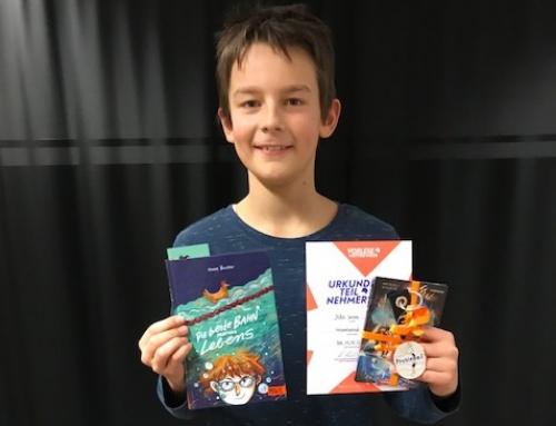 Mika Simons glänzt mit einer tollen Leseleistung beim Vorlesewettbewerb des Kreisentscheids