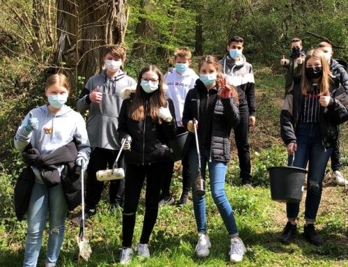 Die Klasse 7a für den Wald